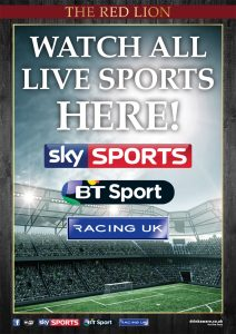 SKY Sports, BT Sports, Racing UK & At the Races - The Red Lion